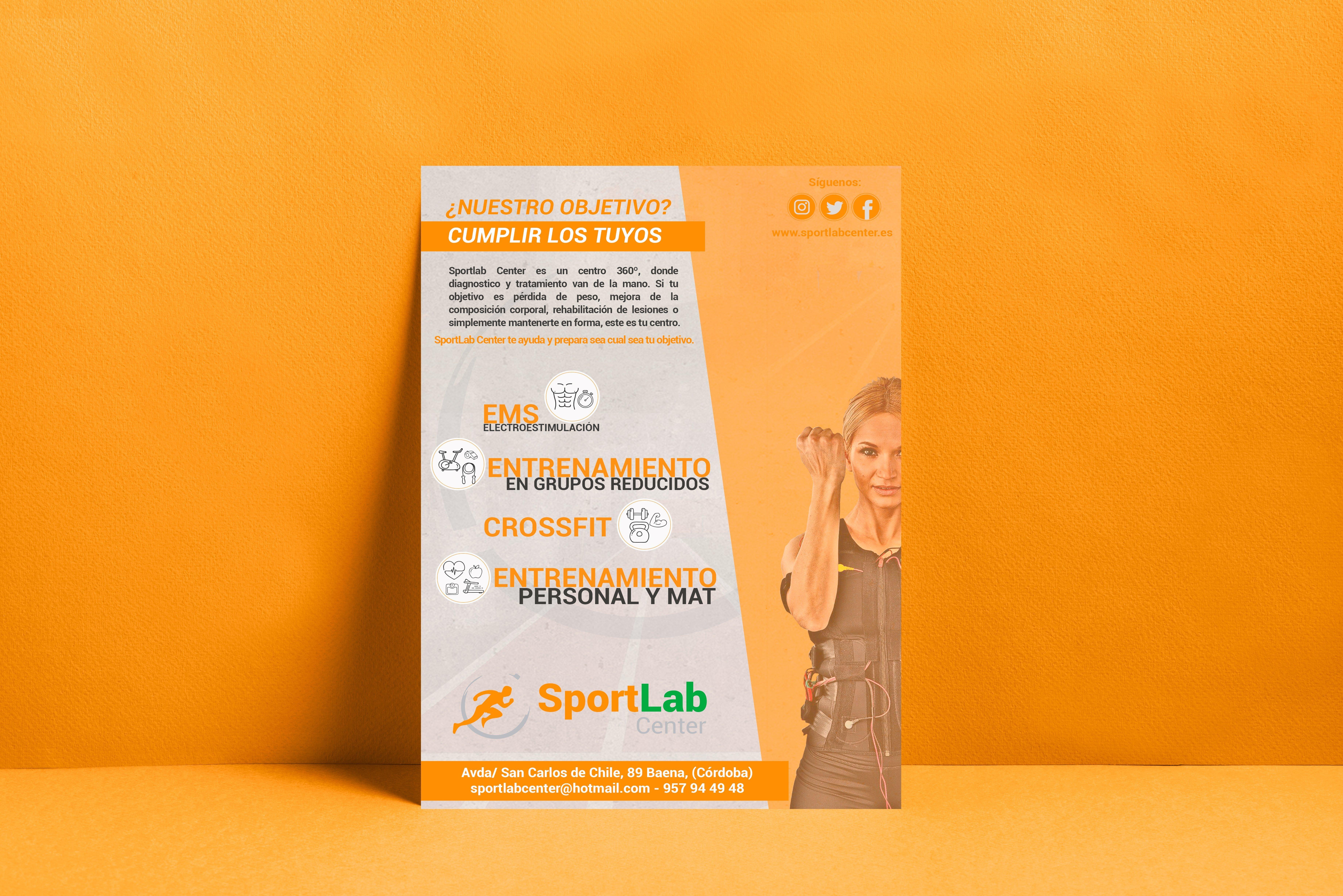 diseño publicidades sportlabcenter