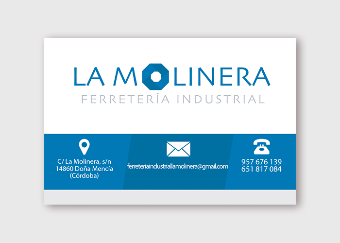 Diseño de Tarjeta de Visita La Molinera