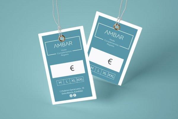 Diseño de Etiquetas Ambar Tienda De Ropa - Factografica.es