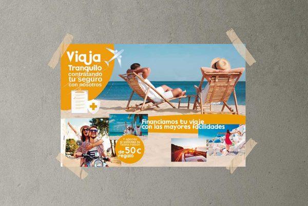 Diseño e Impresión de Cartelería Halcón Viajes Baena - Factografica.es