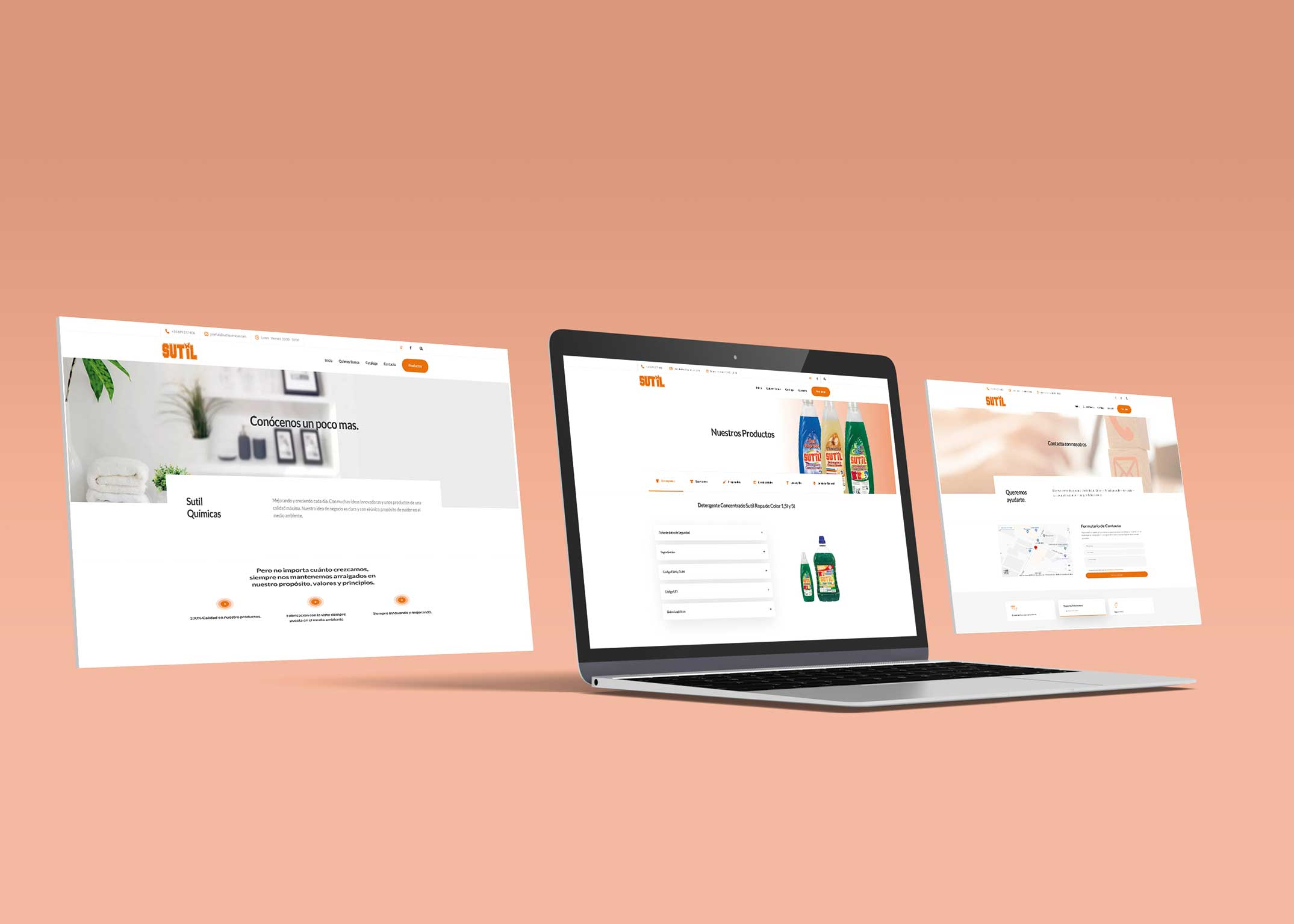 diseño web sutil químicas