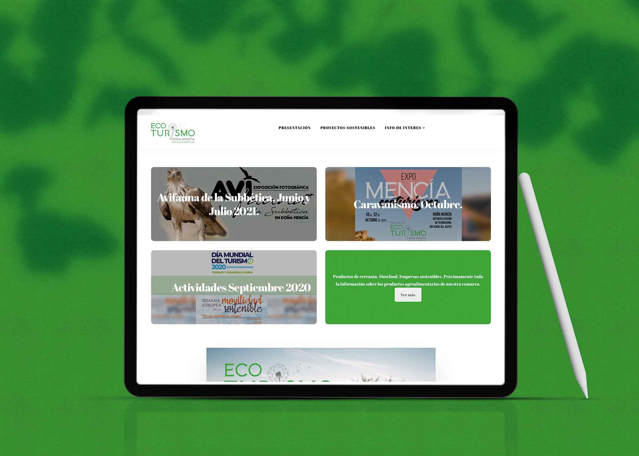 diseño web menciaecoturismo